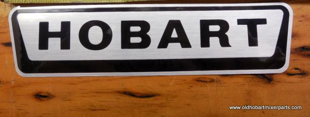 Hobart H600 P600 L800 Mixer Decal 7 Long