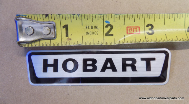 "Hobart Mixer Decal 3-5/8"" Long"
