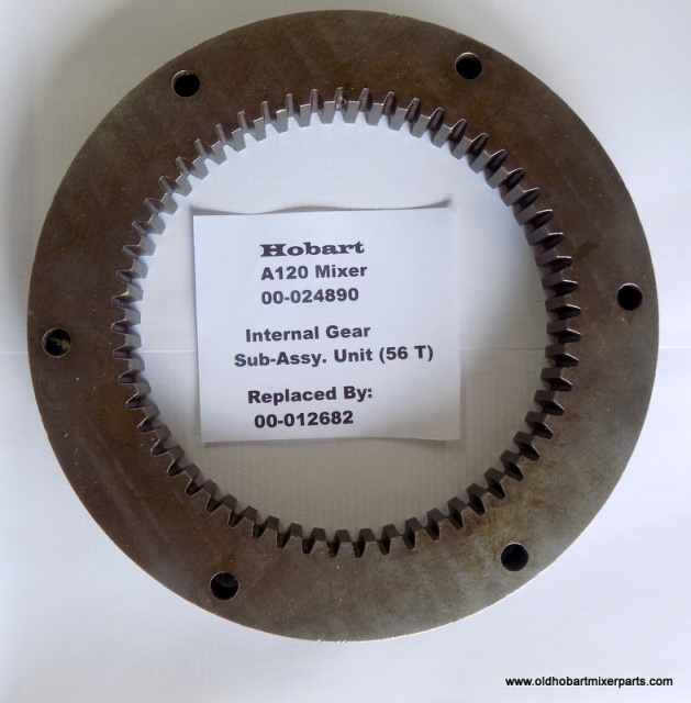Hobart A120 00-024890  Internal 56 Tooth Gear Sub-Assy. Replaced By: 00-012682 Used