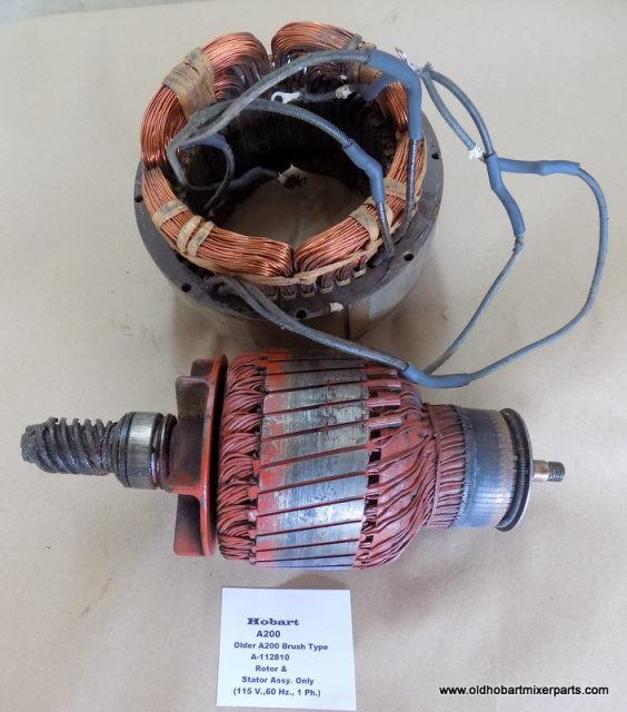 Hobart A200 Brush Type Rotor & Stator  A-113810 Used