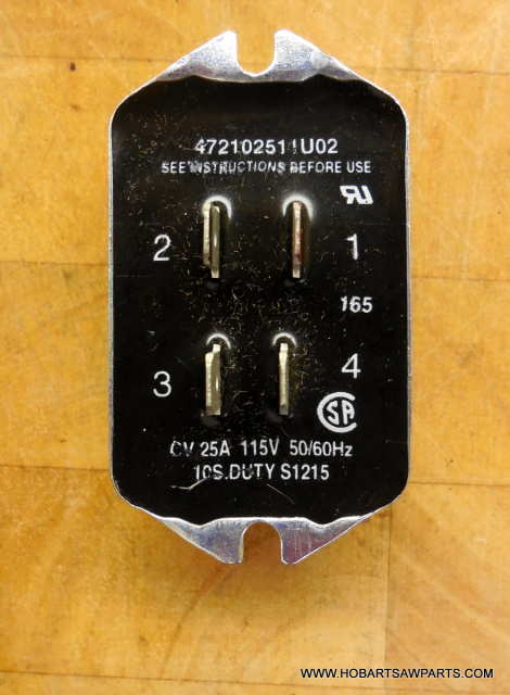 HOBART A-120 4 POLE ELECTRONIC START SWITCH PART NUMBER 00-271612-00002