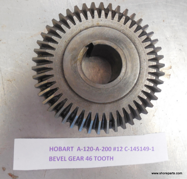 Hobart A120-A200 00-018800-Bevel 46 Tooth gear Used