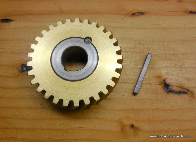 HOBART MIXER A 200 ,A 120 BRONZE WORM WHEEL W/KEY 124751-3 60 hz worm wheel