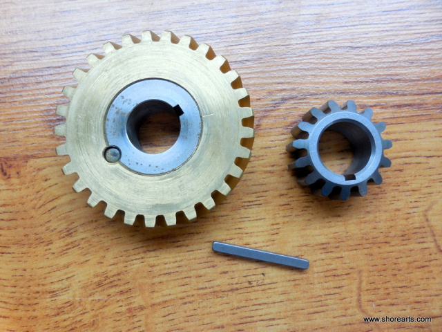 HOBART MIXER 00-124748 00-124751-3 A-120-A-200 WORM WHEEL & 15 TOOTH GEAR W/ KEY