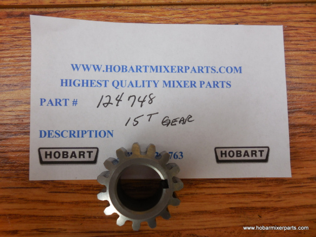 HOBART A-200 WORM WHEEL 15 TOOTH GEAR , OLD NUMBER 124748, NEW NUMBER 00-012430-00004