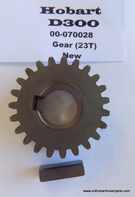 Hobart D300 Transmission 00-080028 23 Tooth Gear New