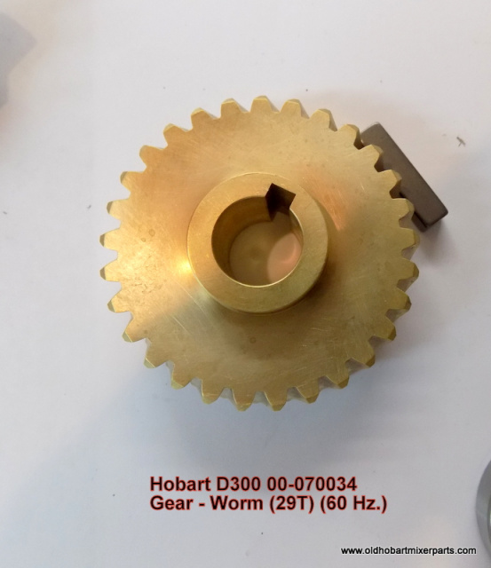 Hobart D300 Worm Gear Shaft 00-070034 Gear - Worm (29T) (60 Hz