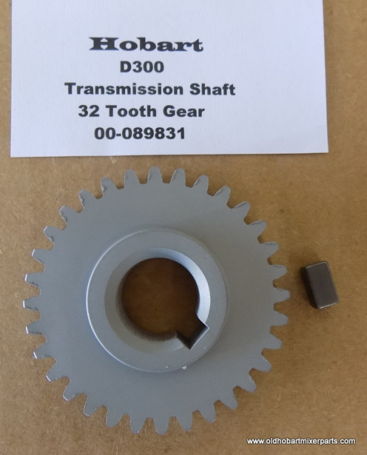 Hobart D300-00-089831-Transmission Shaft 32 Tooth Gear New