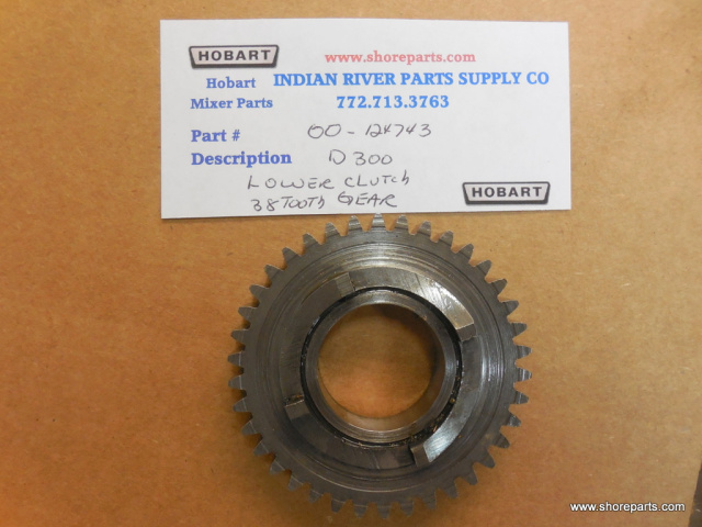 Hobart Mixer D300 00-124743 38 Tooth lower Clutch Gear Used