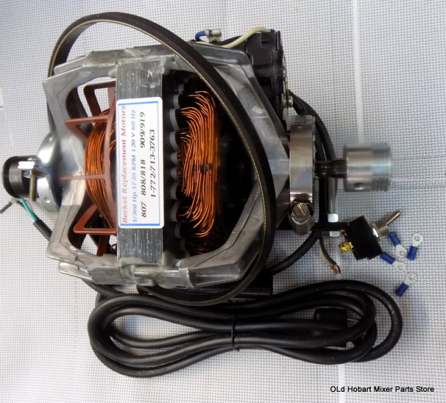 Berkel Slicer-919- New Replacement Motor kit for Part 4975-00386 with new Drive Belt 2375-00141 togg