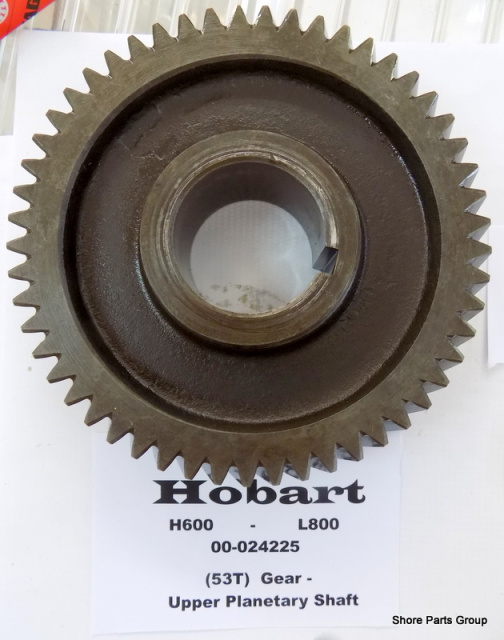 Hobart H600-L800 00-024225 53Tooth Upper Planetary Shaft Gear Used