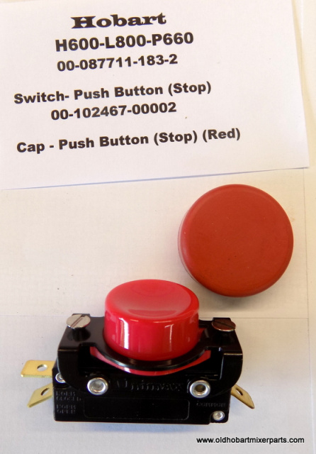 Hobart H600-L800 Red 00-087711-183-2-Stop-Switch-00-102467-00002-Cap