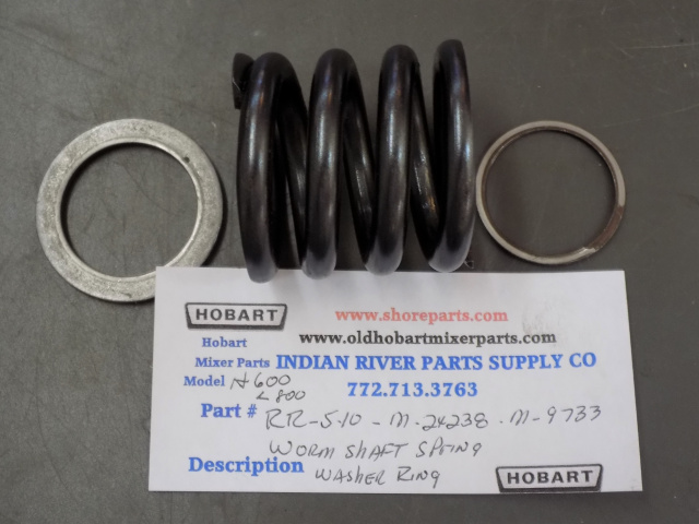 Hobart H600-L800  00-009733 Spring - Worm Shaft Washer Retaining Ring Used # 17-18-19